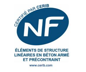 Logo NF éléments de structures en béton armé et précontraint