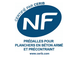 Logo NF prédalles pour planchers en béton armé et précontraint