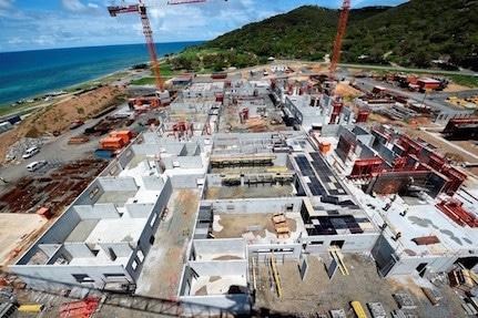 construction de la polyclinique de Nouville à Nouméa