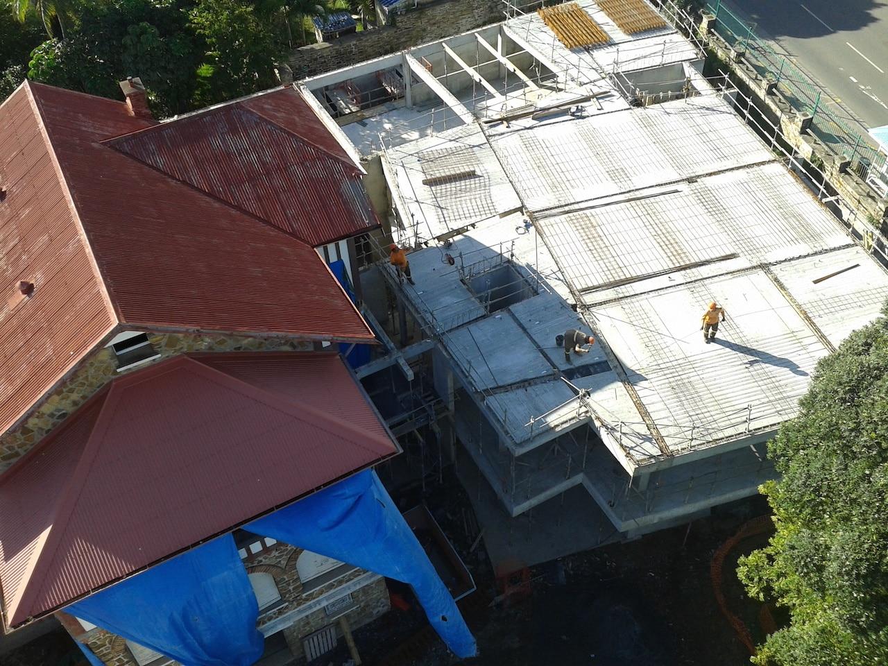 chantier construction de le norwish'immeuble de bureaux LEN