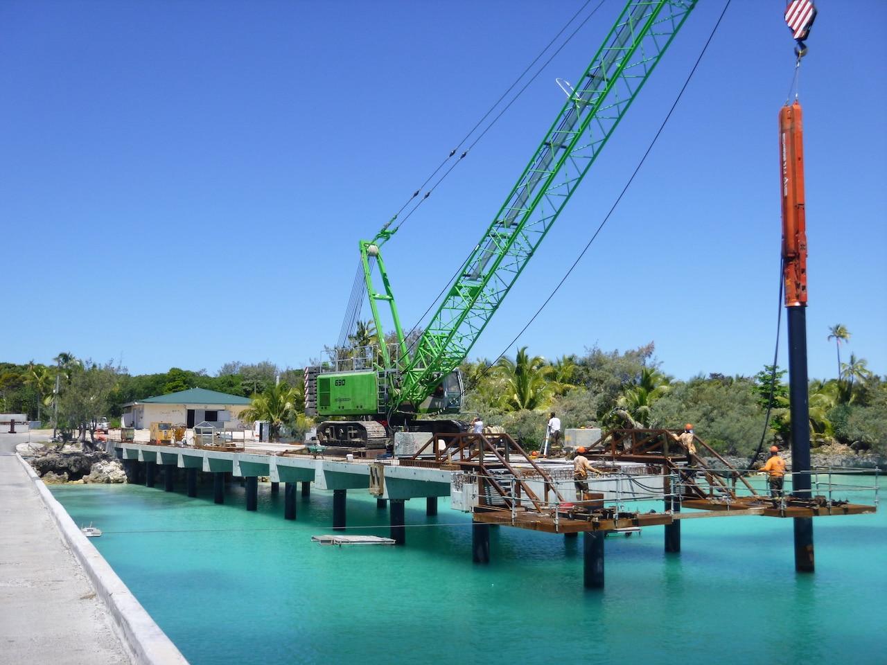 Projet en construction du quai de Wadrilla - NC Prefa