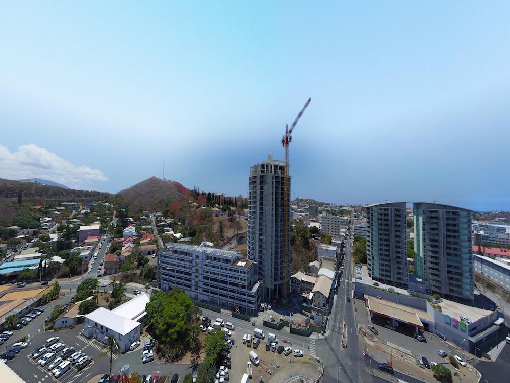 Vue panoramique du Pacific Plaza